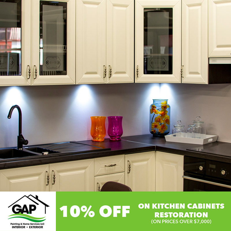 10% On kitchen cabinets restauration