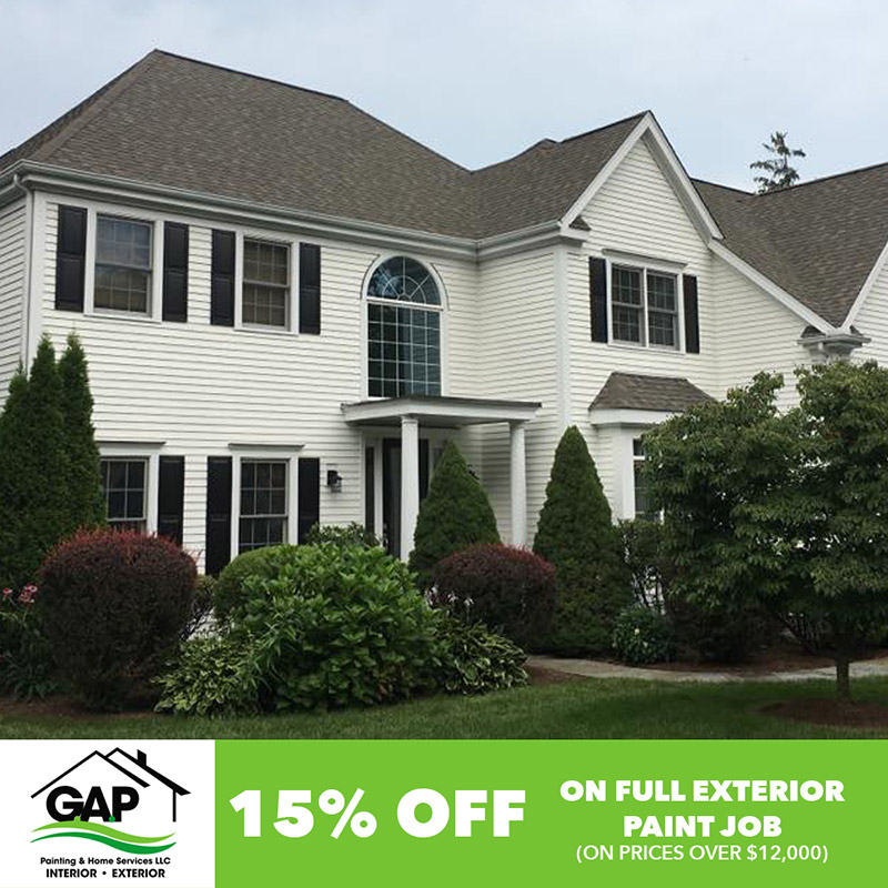 15% Off on full exterior paint jobs