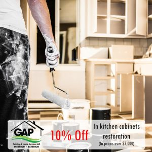 10% In kitchen cabinets restauration