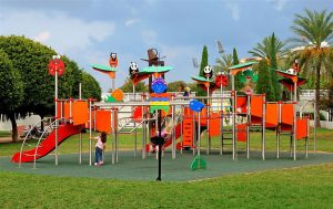 Restoration and maintenance of swing set and playground